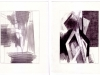 Star Tree Mountain Wave Set 04, 2013, graphite on paper, 10 x 40 inches
