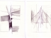 Star Tree Mountain Wave Set 05, 2013, graphite on paper, 10 x 40 inches